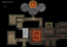 Clean manor map for online DnD / roll20 by SavingThrower