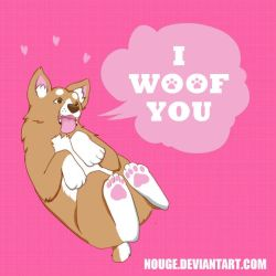 YCH I woof you by nouge