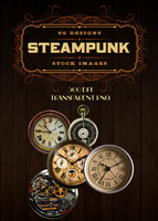 Clock Face PNG Pack 2 - Steampunk Edition by Spiral-0ut