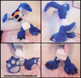 Commission: Small Ripper Roo Plushie by Sarasaland-Dragon