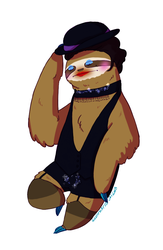 Cabaret Sloth - Musical Sloths by IllustratedJai