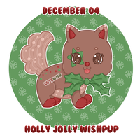 Day 04 || Holly Jolly Wishpup || CLOSED by CuteWish
