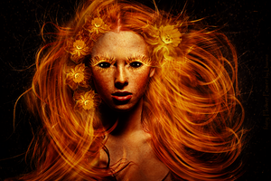 fiery Flower Power by Lhianne