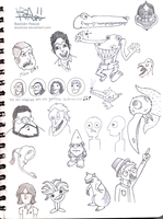 2011 Sketchbook doodles page3 by SkoolCool