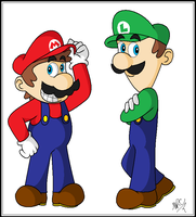 Mario - The Mario Brothers by MariettaRC