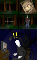 Slenderman plays Squirrelman by ApolloNui