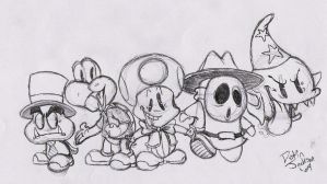 The Mario Party 4 Guys by dustindemon