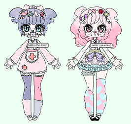 Pastel Harajuku inspired Adopts |CLOSED by Nerdy-The-Robot