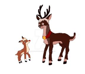 Rudolph With His Grandfather thunder by simbalovepikachu