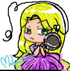 Rapunzel pixel by Shiro-Halilintar