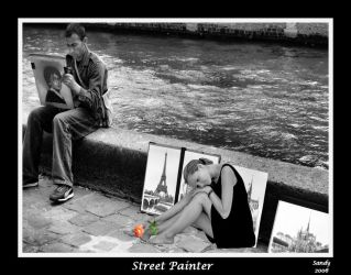 Posing for the Street Painter by sandpiperw
