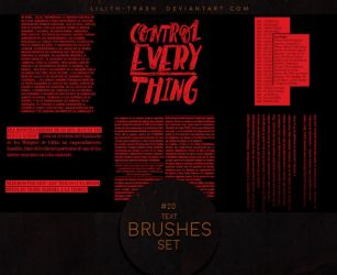 Text Brushes #4 by LilithDemoness