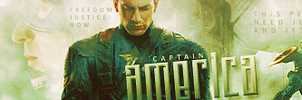 Captain America Banner by shad-designs