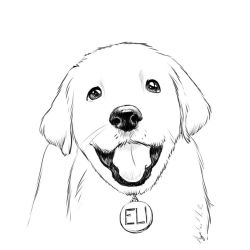 Cute dog sketch by Torbak