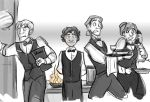 Waitstaff by theTieDyeCloak