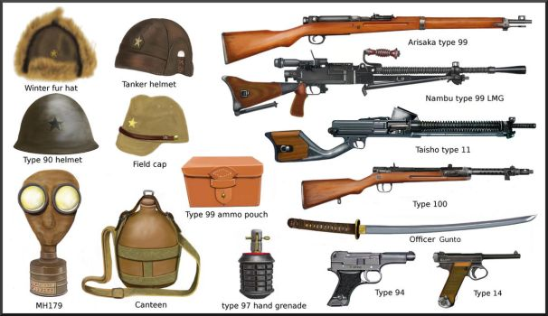 ww2 - Japanese weapons and equipment by AndreaSilva60