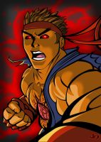 Evil Ryu Vector by arsenalgearxx