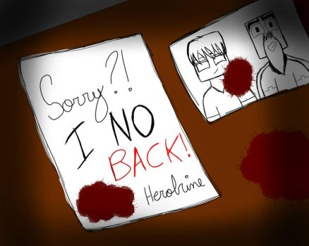 Last minute a message that Herobrine left for his  by VittoriaCraft