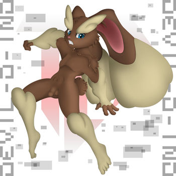 Anthro Lopunny - VER Natural 20160716 by Devil-D-IND