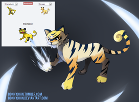 Pokemon Fusion 8 - SABOLT! (Persian + Electabuzz) by BonnyJohn