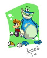 Globox and Rayman by LuluDig