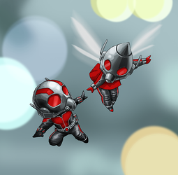 Ant Man and Wasp by pungang