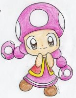 Chibi Toadette by Mushroom-Cookie