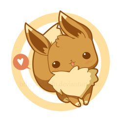 PKM button Evee by Charln