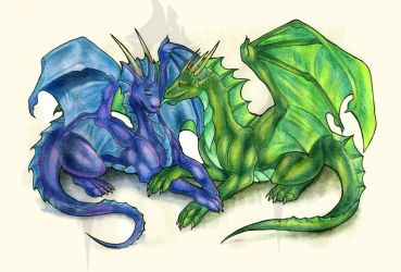 Dragon couple by Natoli