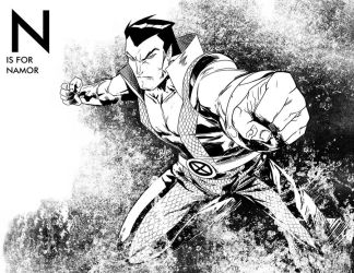 N is for Namor by toonfed