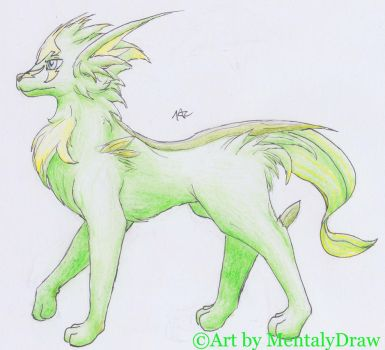 Graolf/Caninee (Amesthia Grass Type Starter) by MentalyDraw