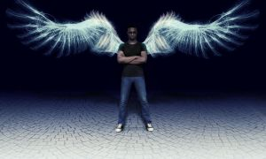 Abstract Angel by Maxwelb