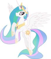 Princess Celestia Vector by Xain-Russell