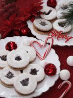 Linzer Cookies by theresahelmer