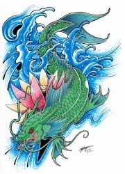 bb13445e7 ShannonxNaruto 86 15 My Koi Dragon Tattoo Design! (Coloured.) :3 by  ShannonxNaruto
