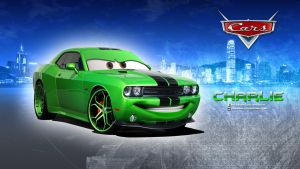 Cars - Charlie (Dodge Challenger) Wallpaper by GregKmk