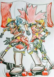 Canada Day Derby 2018 by Artchemist13