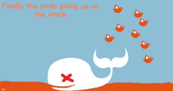 Twitter Whale is Dead by XOXOcaeciliaXOXO