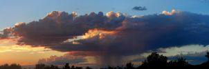 Aug 19th Sunset and Rain Panorama by Phenix59