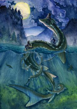 River Serpent by karookachoo