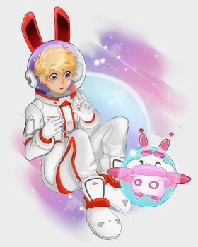 Space Moon Rabbit! by Captain-Sexay