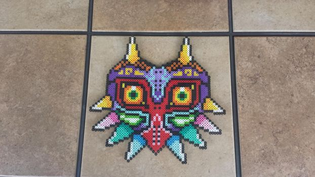 Majora's Mask - LoZ Perler Bead Sprite by MaddogsCreations