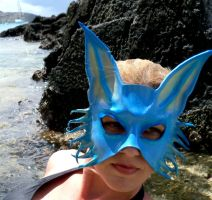 Blue Fox Leather Mask, Francis Bay by teonova