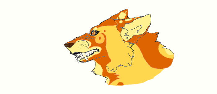 Wolf Oc Snarling Head by Frenchfry207