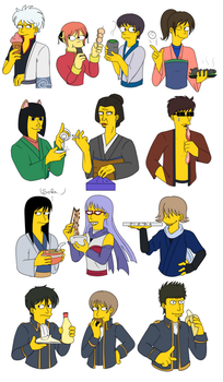 Simpsonized Gintama by Shokly