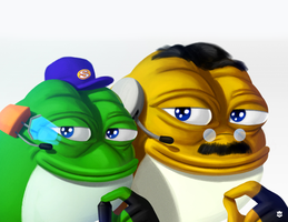 Smug Slippy Toad and Uncle Grippy by GojiBob