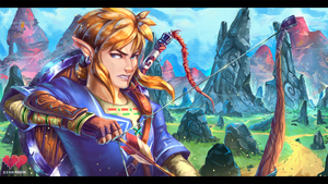 Zelda U Link! The Hero in Blue by Siga4BDN