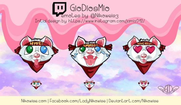 Commission- Twitch Emotes- GioDiosMio by Nikowise