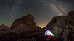 One night in the Dolomites by Sesjusz