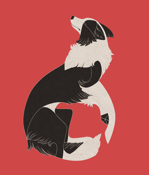 Geometric dogs - Border Collie by Kelgrid